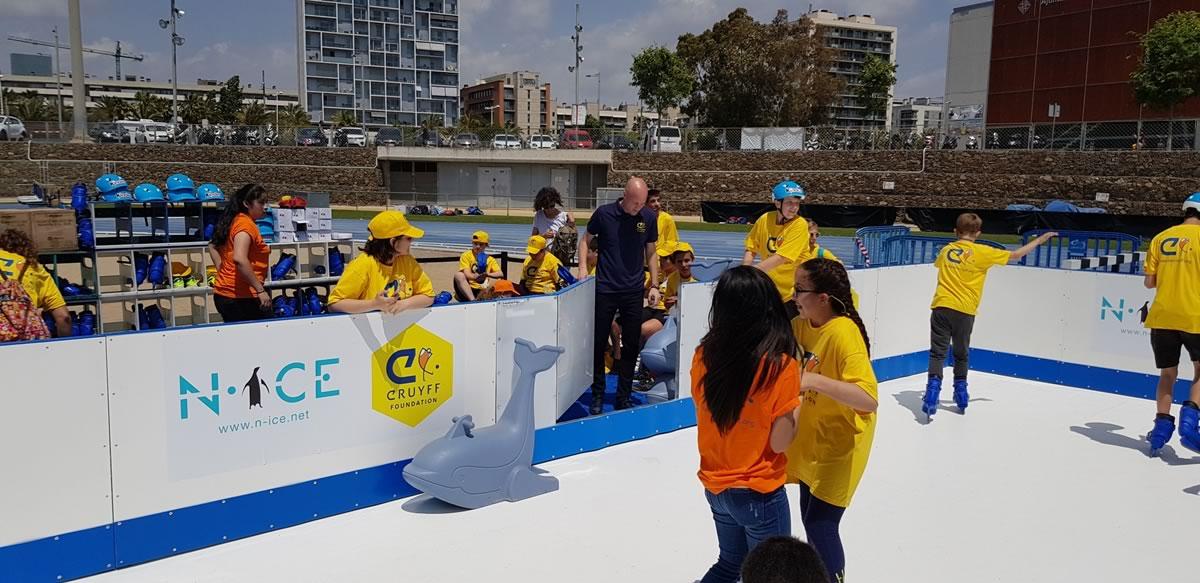 N-ice present a l'Open Day de la Fundació Cruyff